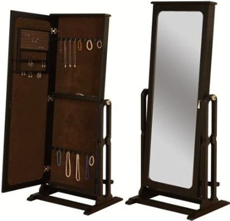 jewelry armoire mirror free standing free standing jewelry armoire with mirror home ideas