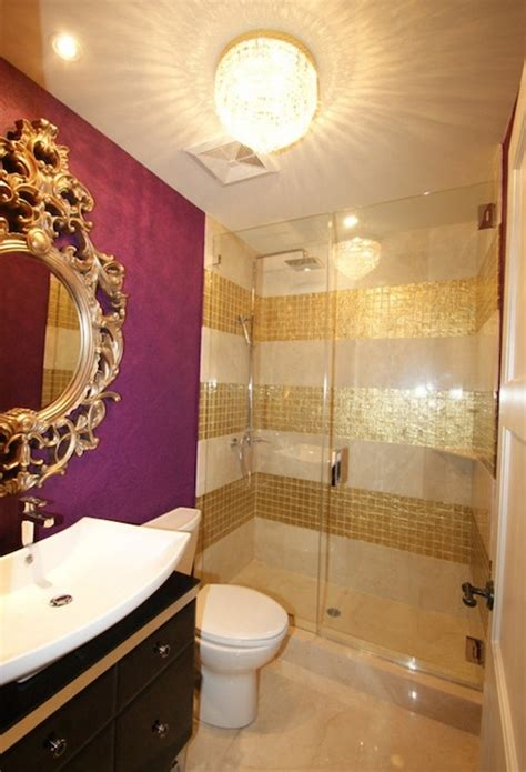 gold bathroom tile like the precious metal gold tile looks expensive and