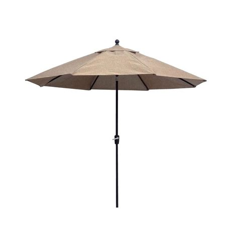 Hton Bay Westbury 11 Ft Patio Umbrella In Tan Home Depot Patio Umbrellas