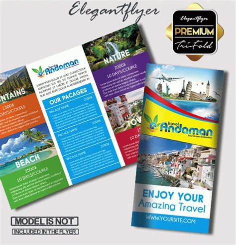 vacation brochure template top 20 free vacation travel brochure templates in psd