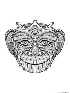 Adult monkey head colouring book to print free adults 2015 12 30