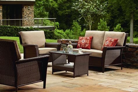 Patio Furniture Seating Sets Ty Pennington Style Parkside Seating Set In Brown Sears