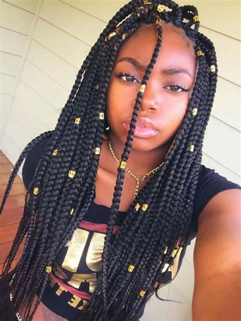 images of medium size individual african american braids box braids hairstyles hairstyles with box braids
