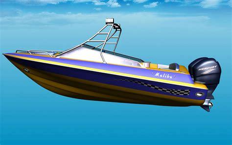 motor speed boat malibu 32 motor boat for fsx by deltasim studio