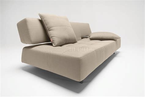 long horn natural fabric sofa bed w two cushions