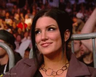 gina carano's hot lip bite and pics