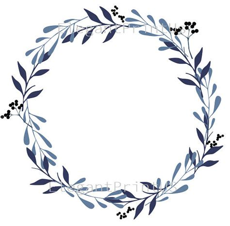 Navy Wedding Clipart by Navy Blue Clipart Wedding Clipart Watercolor Wreath Watercolor