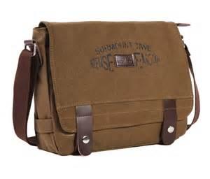 Messenger Bag Canvas Mens Messenger Bag Retro Book Bag Black Coffee