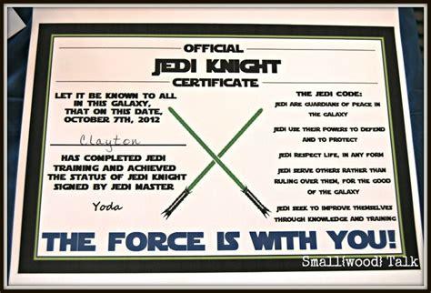 free printable star wars jedi certificates pinterest the world s catalog of ideas