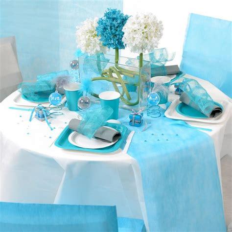 Chemin De Table Bleu Turquoise