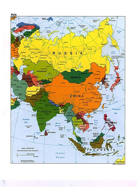 political map of asia large political map of asia asia large political map