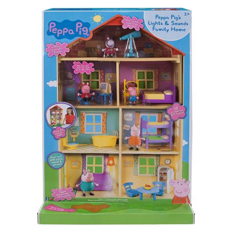 peppa pig family home playset with lights and sounds peppa pig family home house 22 lights sounds family