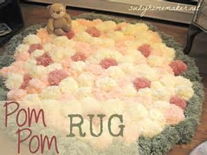 Making A Rug Out Of Carpet Pom Pom Rug Suzy Amp Co
