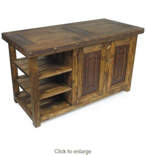iron kitchen island rustic old wood kitchen island with iron accents