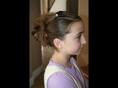 cute hairstyles in youtube corner flip into messy bun cute girls hairstyles youtube