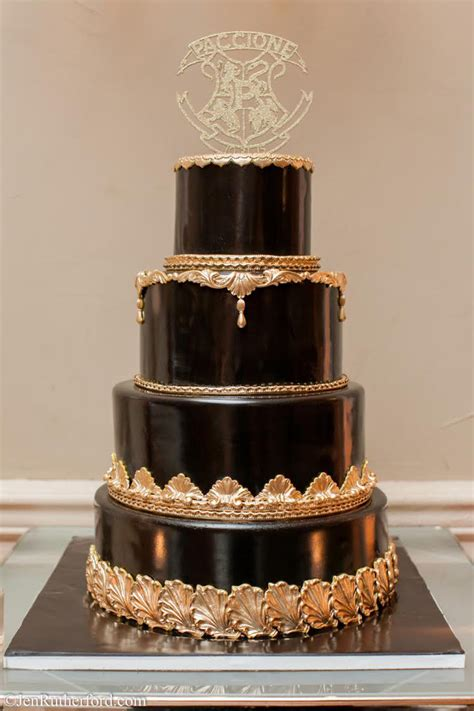 Black Wedding Cakes by Regal Gold Black Wedding Cake Palermo S Custom Cakes