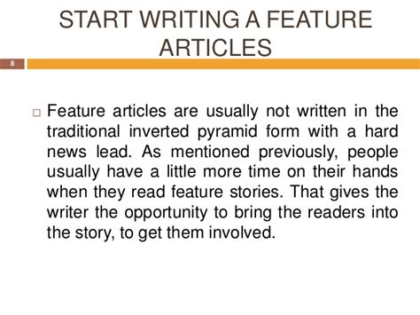 feature article template for students writingafeaturearticle 121214190655 phpapp02