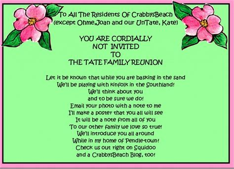 family reunion party invitations party ideas