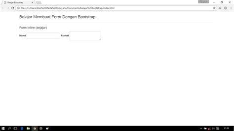 belajar membuat form html belajar bootstrap bagian 4 membuat form dengan bootstrap