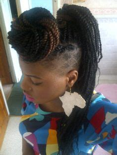 side shaved with senegalese twist box braids shaved sides undercut hairstyles