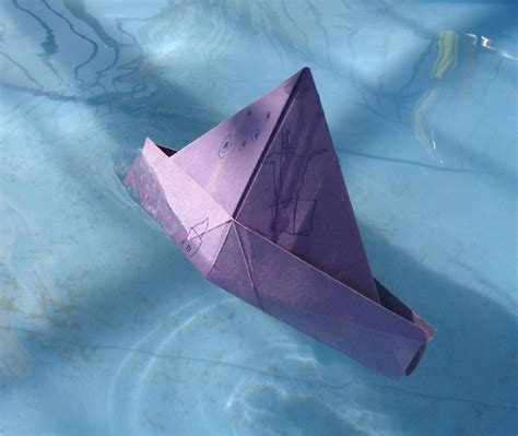 Paper Hat Folding - classic folded paper boats and hats a great craft