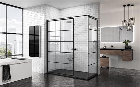 badkamer mat zwart wit zwart in de badkamer douchewanden met industri 235 le look