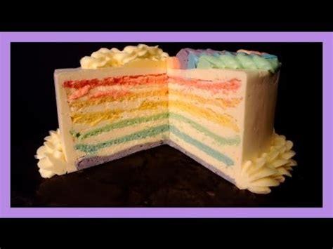 Regenbogen Kuche by Pastel Rainbow Cake Rainbow Kuchen Selber Backen