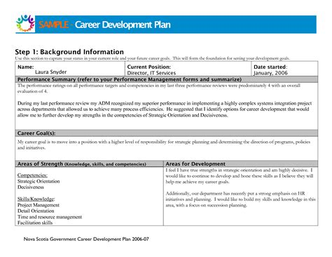 professional development plan template related keywords