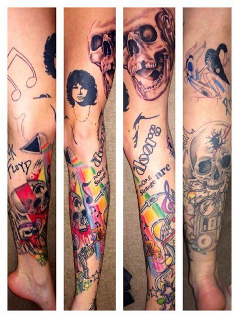 jim morrison tattoos jim morrison the doors on leg tattoomagz