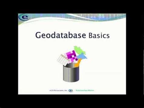 arcgis geodatabase basics