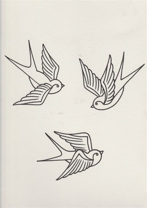 tattoo flash how to draw how to draw a group of swallows in a retro tattoo style