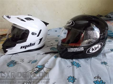 Helm Mds Supermoto Enduro cxrider review singkat helm supermoto lokal mds superpro cxrider