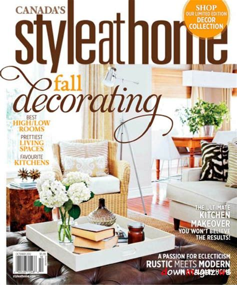 Home Design Magazine In by Style At Home Magazine October 2012 187 Pdf