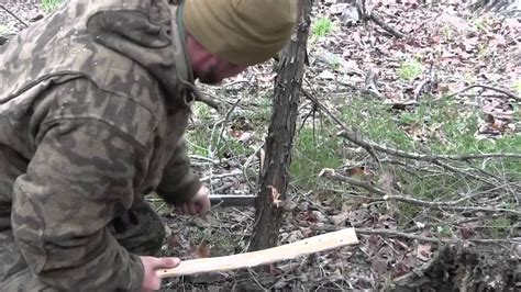 how to cut a tree how to cut a tree with a knife