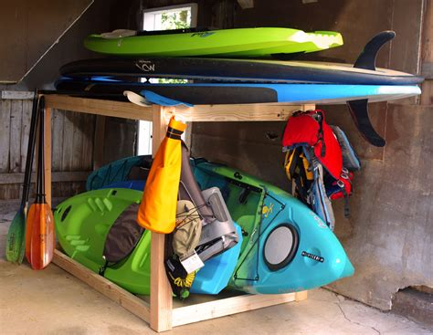 Diy Sup Rack by Kayak And Sup Storage Rack A Simple Diy Project Create And Babble