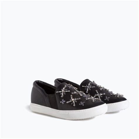 zara shoes bags jewelled slip on sneaker t 234 nis