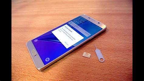Samsung Galaxy S10 2 Sim Card by Samsung Galaxy Note 5 How To Insert Sim Card Easily