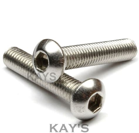 Hex Mur Panjang M8 X 24 button screws allen socket bolts m3 m4 m5 m6 m8 a2 stainless steel s ebay