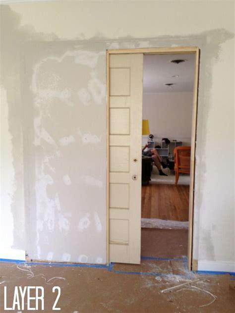 Pocket Door Closet How To Build A Pocket Door Pocket Doors Doors And Easy