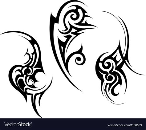 abstract tribal tattoo abstract tribal design royalty free vector image