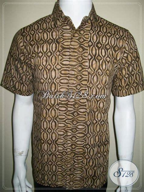 Jumbo Ll Bolero Batik Katun Ll Harga Murah kemeja batik cap warna coklat keren untuk cowok lengan