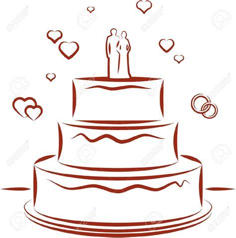 Wedding Cake Vector by Wedding Cake Clipart Vector Pencil And In Color Wedding
