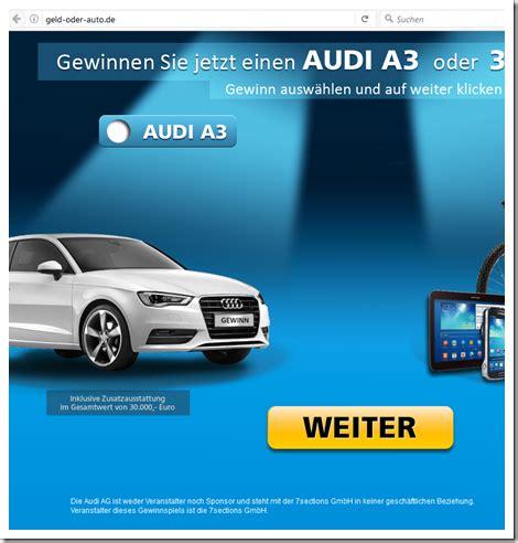 Audi Gewinnen by Mimikama Audi Gewinnen