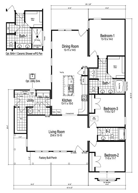 floorplan or floor plan the buckeye manufactured home floor plan or modular floor plans