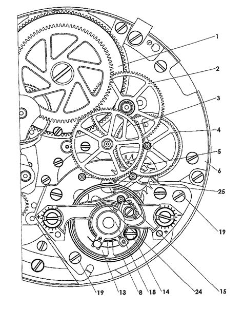 mechanic drawing patent us20120092969 clock movement patents