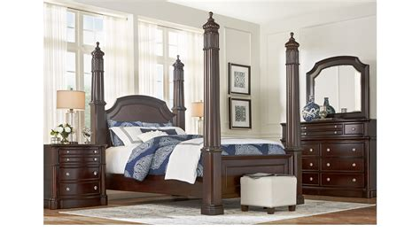 dumont bedroom set dumont cherry 7 pc queen high poster bedroom traditional