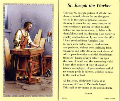 caput mundi: saint joseph the worker