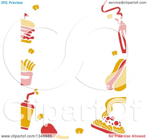 Border Clipart 1193489 Illustration By by Clipart Of A Border Of Yellow And Fast Food Icons