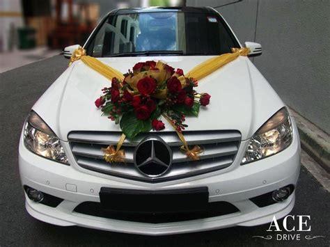 Mercedes Benz C180 CGI Sport Wedding Car Decorations