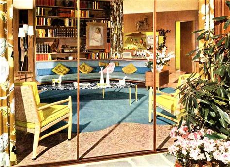 Color Schemes For Homes Interior 50s living room soothing modern color ideas from a 1954